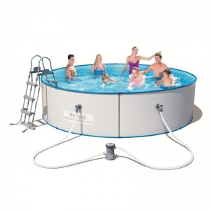 Стальной бассейн Hydrium Splasher Pool Set 360х90 см, 8648 л с фил.-насос 2006л/ч и лест.