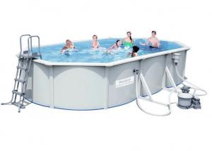 Стальной овальный бассейн Hydrium Oval Pool Set 610х360х120 см, 19929 л с песч. Фил.-насос 3785л/ч,