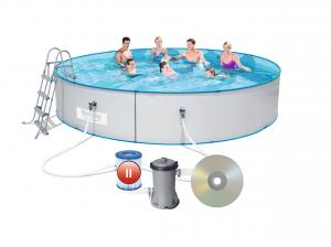 Стальной бассейн Hydrium Splasher Pool Set 460х90 см, 14110 л с фил.-насос 2006л/ч и лест.