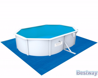 Стальной овальный бассейн Hydrium Oval Pool Set 500х360х120см, 16296л,фил.-насос 3028л/ч, лест,подст